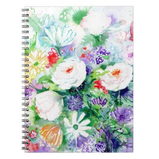 Watercolor Good Mood Flowers Notebooks