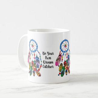 Watercolor gorgeous rainbow dream catcher coffee mug