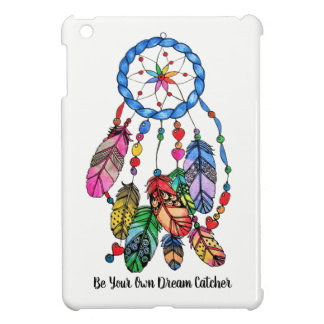 Watercolor gorgeous rainbow dream catcher cover for the iPad mini