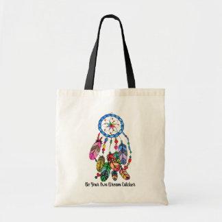 Watercolor gorgeous rainbow dream catcher tote bag