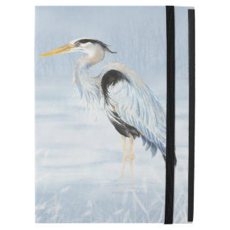 "Watercolor Great Blue Heron Bird Art iPad Pro 12.9"" Case"