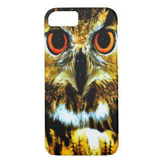 Watercolor Great Horned Owl iPhone 7 Case