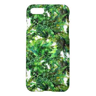Watercolor green fern forest fall pattern iPhone 8/7 case