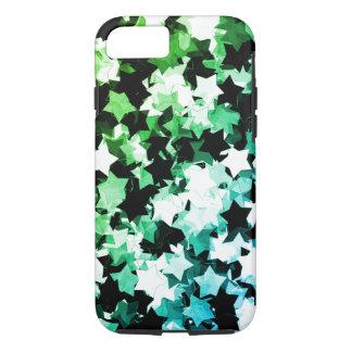WaterColor Green Kawaii Stars Shibuya Night iPhone 7 Case