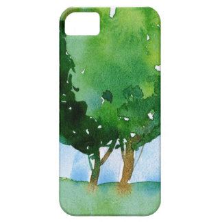 watercolor green trees. case for the iPhone 5