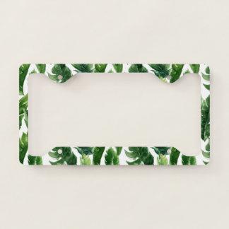 Watercolor Green Tropical Leaves
