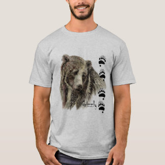 Watercolor Grizzly Bear Wildlife Nature Art T-Shirt