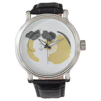 Watercolor Guinea Pig Watch