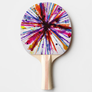 Watercolor Hand Drawn Design Ping Pong Paddle