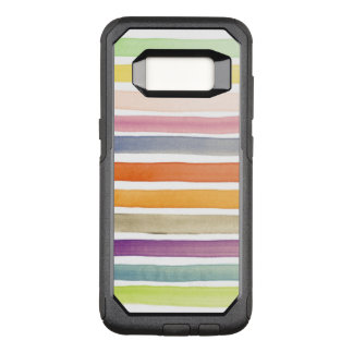 Watercolor hand painted brush strokes, banners. OtterBox commuter samsung galaxy s8 case