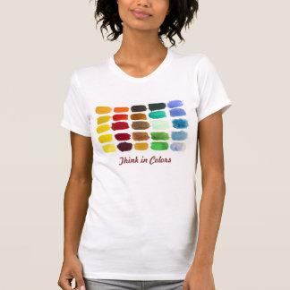 watercolor handpainted brush strokes tshirt