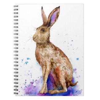 Watercolor hare portrait notebooks