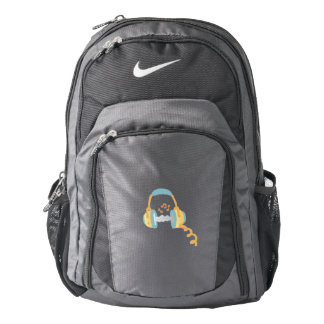 watercolor headphone. backpack