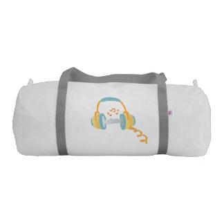 watercolor headphone. gym duffel bag