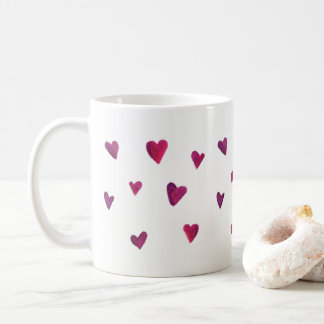 Watercolor Heart Melody Coffee Mug