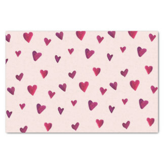 Watercolor Heart Melody Tissue Paper
