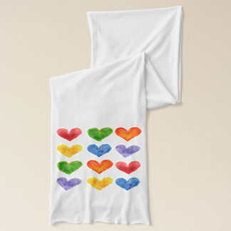 Watercolor Heart Scarf