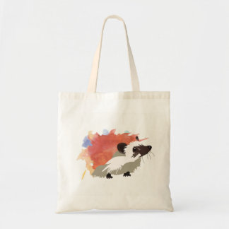 Watercolor Hedgehog Tote Bag