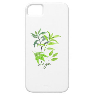 Watercolor herb sage illustration case for the iPhone 5
