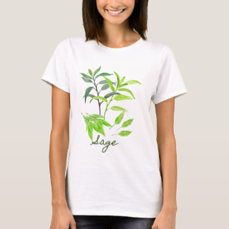 Watercolor herb sage illustration T-Shirt