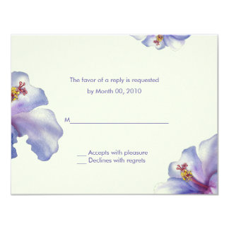 Watercolor Hibiscus reply cards