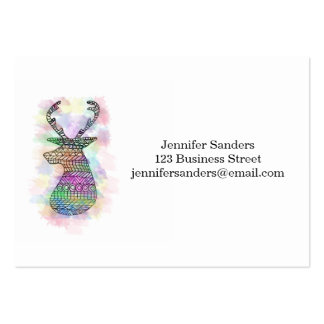 WATERCOLOR HIPSTER TRIBAL DEER PRINT PACK OF CHUBBY BUSINESS CARDS
