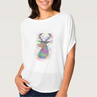 WATERCOLOR HIPSTER TRIBAL DEER PRINT T-Shirt