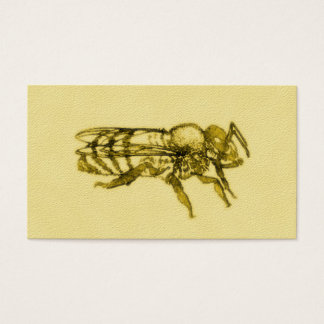 Watercolor Honey Bee Business Card