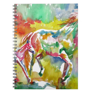 watercolor HORSE .17 Notebook