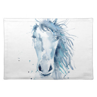 Watercolor horse portrait placemat