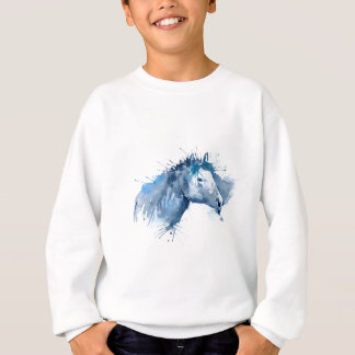 Watercolor Horse Portrait Sweatshirt