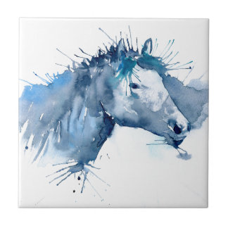 Watercolor Horse Portrait Tile