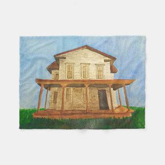 Watercolor House Fleece Blanket