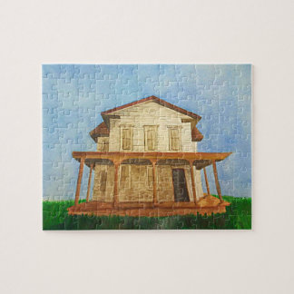 Watercolor House Puzzle