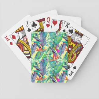 Watercolor Humminbirds In The Jungle Poker Deck