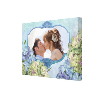 Watercolor Hydrangea Floral - Customize Gallery Wrapped Canvas