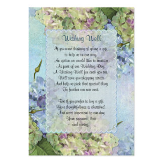 Watercolor Hydrangea Floral Wedding - Wishing Well Pack Of Chubby Business Cards