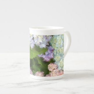 Watercolor Hydrangeas Bone China Tea Cup