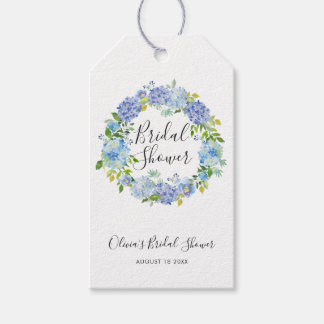 Watercolor Hydrangeas Wreath Bridal Shower Gift Tags