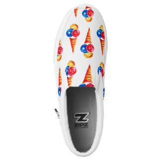 Watercolor ice-cream cone printed shoes