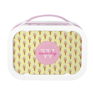 Watercolor Ice Cream Lunch Box (yellow)