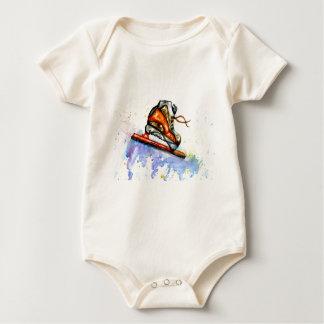 Watercolor Ice Skate Baby Bodysuit
