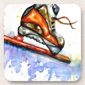 Watercolor Ice Skate Coaster