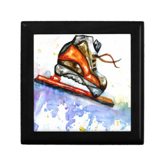 Watercolor Ice Skate Gift Box