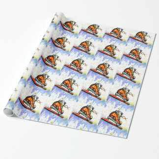 Watercolor Ice Skate Wrapping Paper