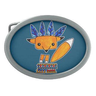 Watercolor illustration cute Fox. Fun nice animal Belt Buckles