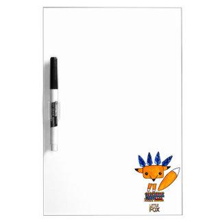 Watercolor illustration cute Fox. Fun nice animal Dry Erase Board