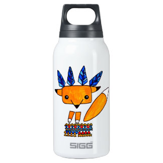 Watercolor illustration cute Fox. Fun nice animal Insulated Water Bottle