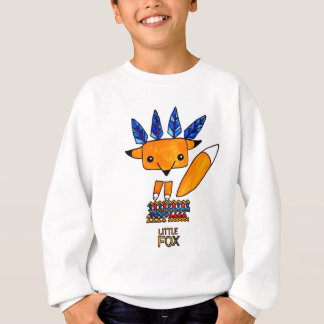 Watercolor illustration cute Fox. Fun nice animal Sweatshirt