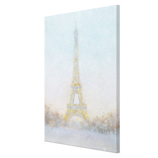 Watercolor | Image of Eiffel Towe Canvas Print